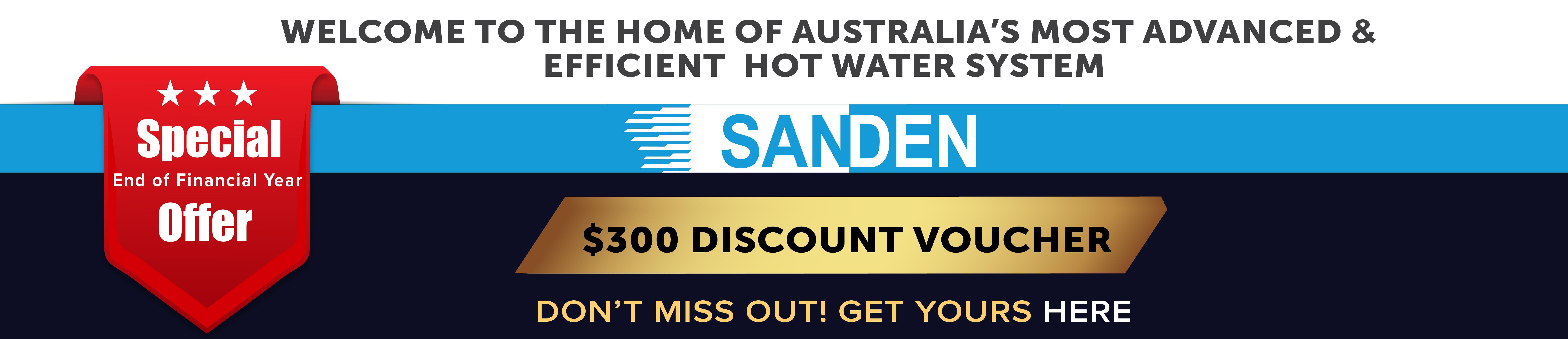 Sanden Pump Discount Offer EOFY